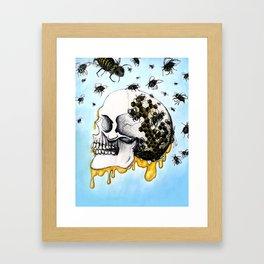 Bees & Honey Framed Art Print