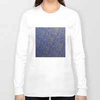 baroque Long Sleeve T-shirts featuring Baroque Rose by Azure Cricket