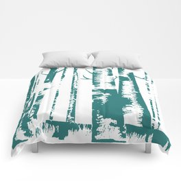 Old Growth Birch Forest in Blue Comforters