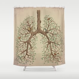 Breathe! Shower Curtain