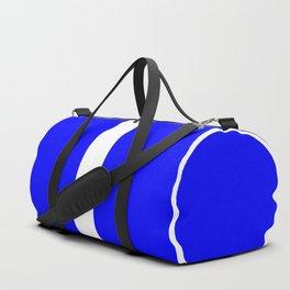 TEAM COLORS 10 ...Blue, white, blue Duffle Bag