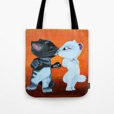 Kissing Cats Tote Bag