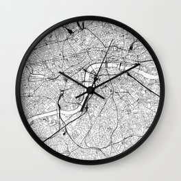 London White Map Wall Clock
