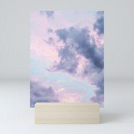 Pastel Purple Clouds Mini Art Print