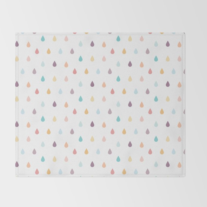 colorful rain Throw Blanket