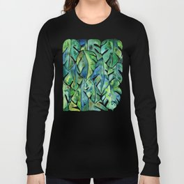 Split Leaf Philodendron – Green Long Sleeve T-shirt