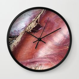 Palm Collar Closeup Wall Clock