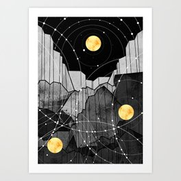 Astronomy mountains Art Print