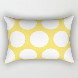 Large Polka Dots: Yellow Rectangular Pillow