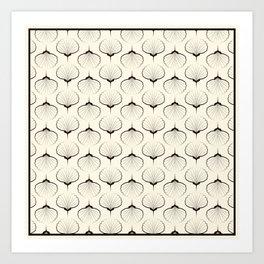 """Art Deco . No. 18 """"Shells."""" Art Print"""