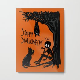 Halloween with the skull Metal Print