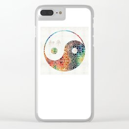 Yin And Yang - Colorful Peace - By Sharon Cummings Clear iPhone Case