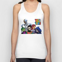 teen titans Tank Tops featuring Teen Titans by Paige Thulin