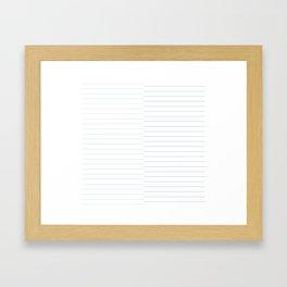 Blue Geo Print Framed Art Print
