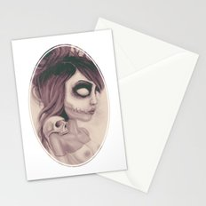 dearpain +Deathlike Skull Impression+ Stationery Cards