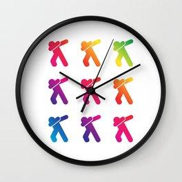 Rainbow Dabbers Wall Clock
