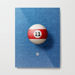 BALLS / Pool Billiard (eleven) Metal Print
