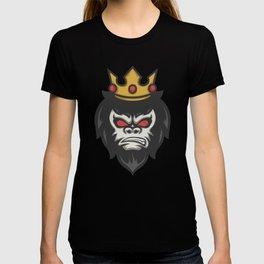 Gorilla King Crown Animal Jungle T-shirt