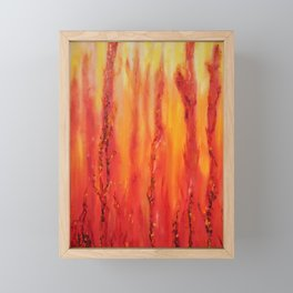 Dancing Flames II Framed Mini Art Print