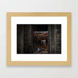 Inner Room at Banteay Srey Temple Framed Art Print