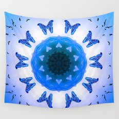 All things with wings (blue) Wall Tapestry
