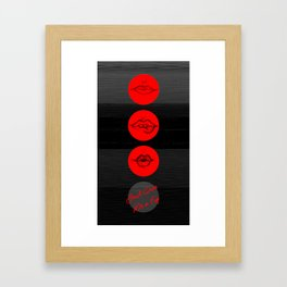 Just Give Me a Try // The Wombats Framed Art Print