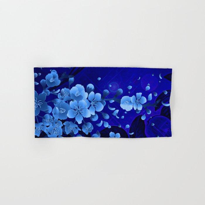 Cherry blossom, blue colors Hand & Bath Towel