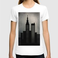 skyline T-shirts featuring City Skyline  by ALLY COXON