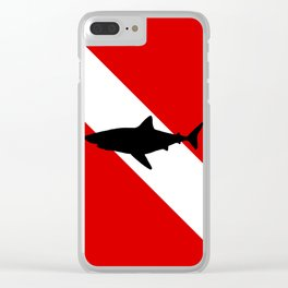 Diving Flag: Shark Clear iPhone Case