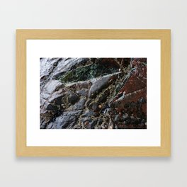 Ocean Weathered Natural Rock Texture with Barnacles Framed Art Print