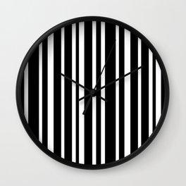 Black Stripe Pattern Home Decor | Black and White | Minimalism Wall Clock