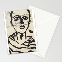 Library Card Art Stationery Cards