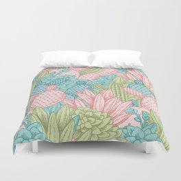Pastel Cacti Obsession #society6 Duvet Cover