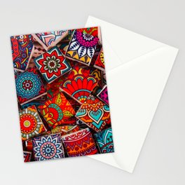 V1 Traditional Moroccan Colored Stones. Stationery Cards