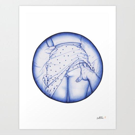 Sneak peak, BIC love. Art Print