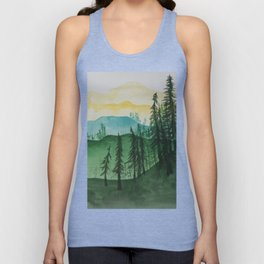Mountains and Trees Unisex Tank Top