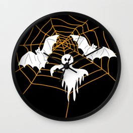 Bats and Ghost white - black color Wall Clock