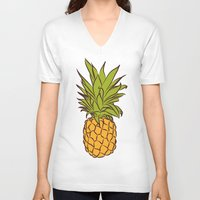 pineapples V-neck T-shirts featuring Pineapples by Stephanie Keir