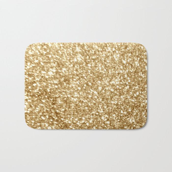 Gold glitter Badematte