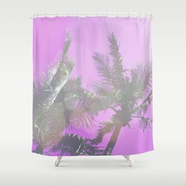 Pink Palm Trees Shower Curtain