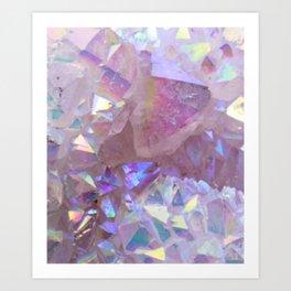 Pink Aura Crystals Art Print
