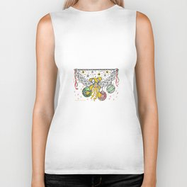 Zentangle Happy Holiday Swag for Peace, Love and Joy at Christmas Biker Tank