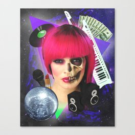 She likes to party Canvas Print