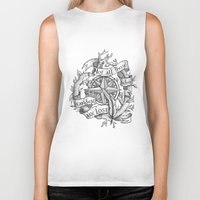 "not all who wander are lost Biker Tanks featuring ""Not all those who wander are lost"" by Rose24601"