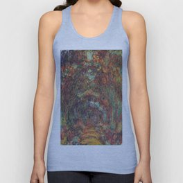 Claude Monet's The Rose Walk, Giverny Unisex Tank Top