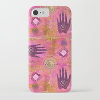 hands iPhone & iPod Cases featuring Hands by LebensART