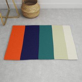 Orange & Teal Geometric Pattern Rug
