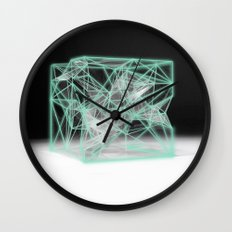 neon cube Wall Clock