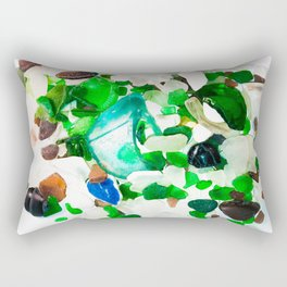 Beach Glass Rectangular Pillow