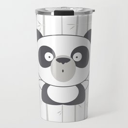 Emotional Bears: Surprised Panda Travel Mug